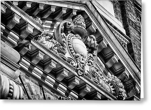 Blackrussianstudio Greeting Cards - Philadelphia Building Detail 7 Greeting Card by Val Black Russian Tourchin