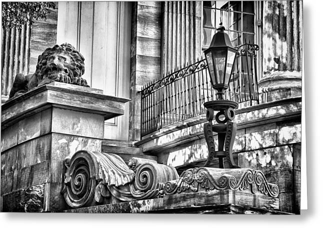 Blackrussianstudio Greeting Cards - Philadelphia Building Detail 9 Greeting Card by Val Black Russian Tourchin