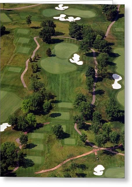 Hurdzan Greeting Cards - Philadelphia Cricket Club Militia Hill Golf Course 15th Hole Greeting Card by Duncan Pearson