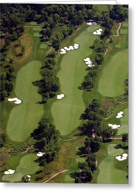 Hurdzan Greeting Cards - Philadelphia Cricket Club Militia Hill Golf Course 17th Hole Greeting Card by Duncan Pearson