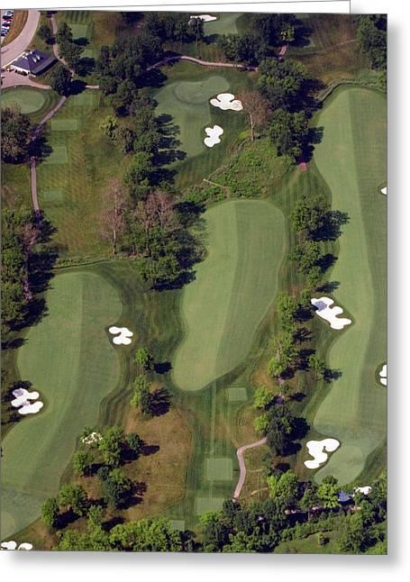 Hurdzan Greeting Cards - Philadelphia Cricket Club Militia Hill Golf Course 18th Hole Greeting Card by Duncan Pearson