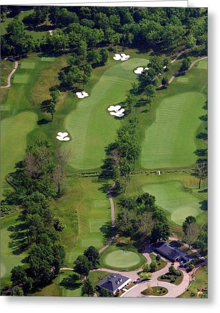 Hurdzan Greeting Cards - Philadelphia Cricket Club Militia Hill Golf Course 1st Hole Greeting Card by Duncan Pearson