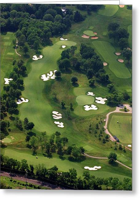 Hurdzan Greeting Cards - Philadelphia Cricket Club Militia Hill Golf Course 6th Hole Greeting Card by Duncan Pearson