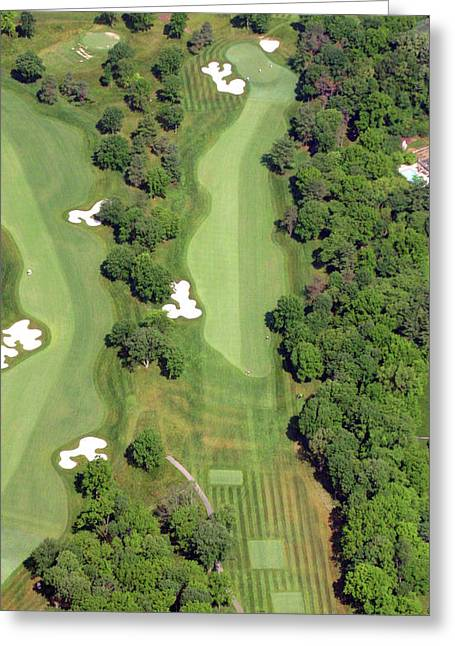 Hurdzan Greeting Cards - Philadelphia Cricket Club Militia Hill Golf Course 7th Hole Greeting Card by Duncan Pearson