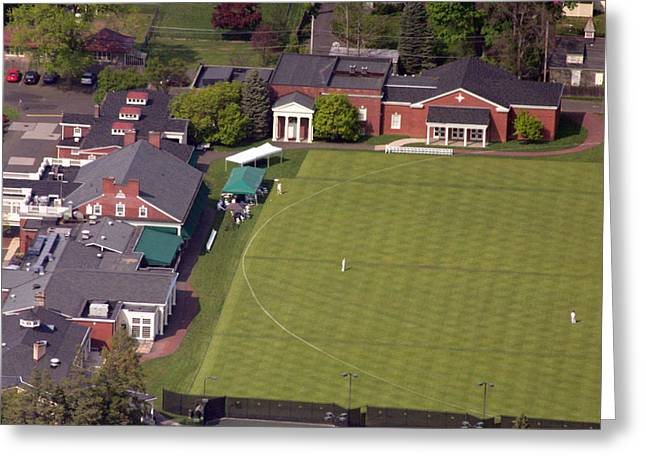 Cricket Aerial Greeting Cards - Philadelphia Cricket Club Squash Greeting Card by Duncan Pearson