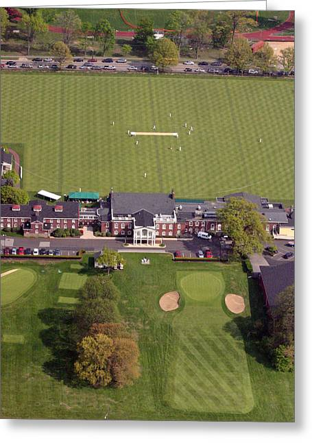Cricket Aerial Greeting Cards - Philadelphia Cricket Club St Martins Greeting Card by Duncan Pearson