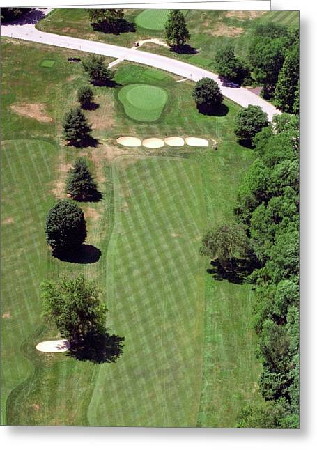 Cricket Aerial Greeting Cards - Philadelphia Cricket Club St Martins Golf Course 3rd Hole 415 West Willow Grove Ave Phila PA 19118 Greeting Card by Duncan Pearson