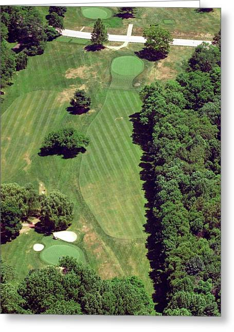 Cricket Aerial Greeting Cards - Philadelphia Cricket Club St Martins Golf Course 6th Hole 415 West Willow Grove Ave Phila PA 191118 Greeting Card by Duncan Pearson