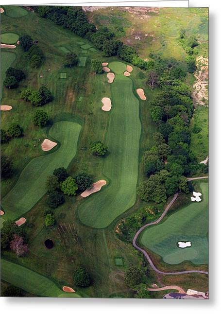 Hole 12 Greeting Cards - Philadelphia Cricket Club Wissahickon Golf Course 12th Hole Greeting Card by Duncan Pearson