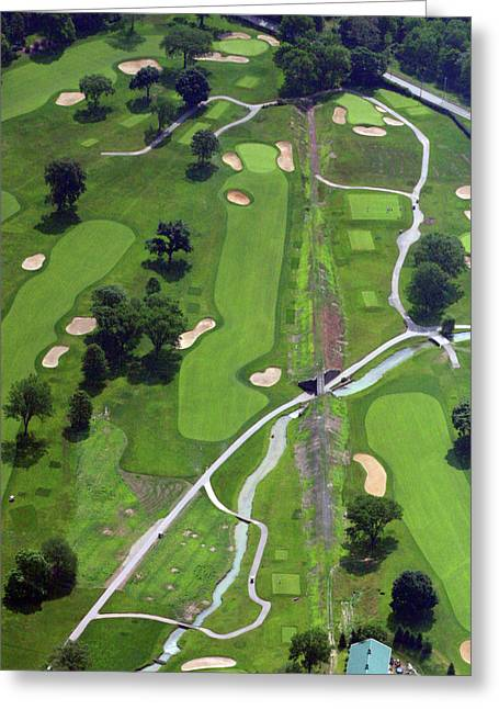 9th Hole Greeting Cards - Philadelphia Cricket Club Wissahickon Golf Course 9th Hole Greeting Card by Duncan Pearson