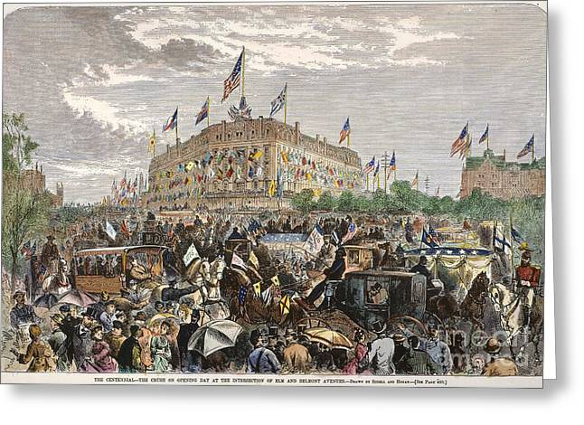 PHILADELPHIA EXPO, 1876 Greeting Card by Granger