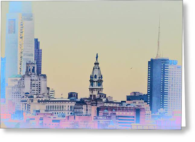 Philadelphia From South Camden Greeting Card by Bill Cannon