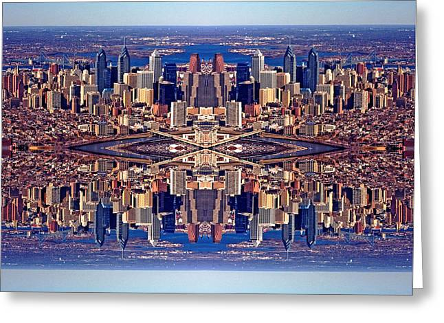 Recently Sold -  - Morph Greeting Cards - Philadelphia Geometric Collage Greeting Card by Duncan Pearson