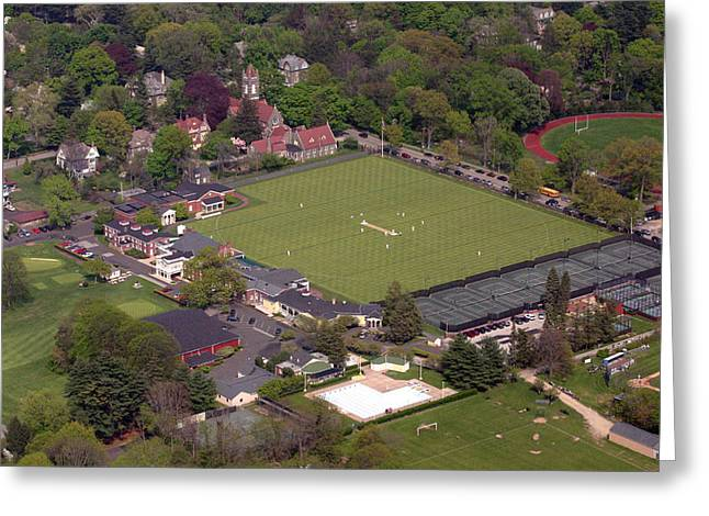 Cricket Aerial Greeting Cards - Philadelphia International Cricket Festival Greeting Card by Duncan Pearson