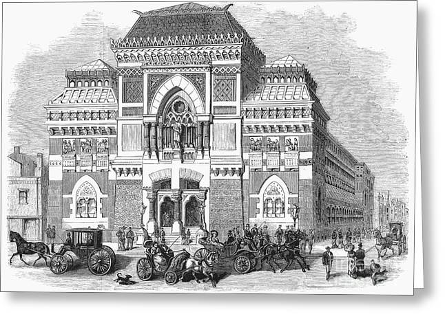 1876 Greeting Cards - Philadelphia: Museum, 1876 Greeting Card by Granger
