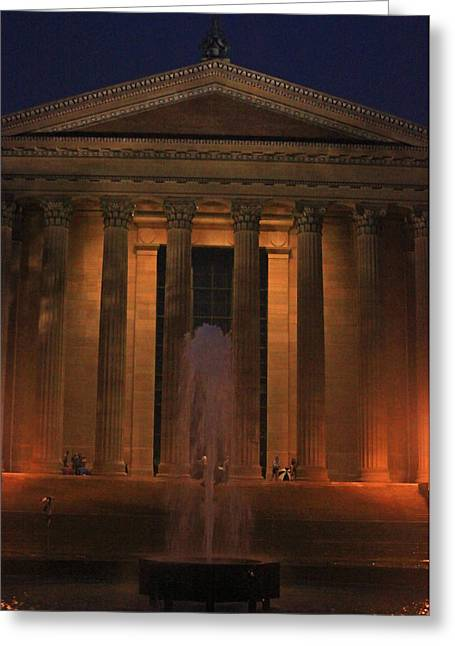 Phillies Greeting Cards Greeting Cards - Philadelphia Museum of Art Greeting Card by Todd Breitling