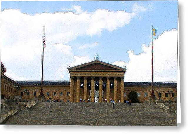 Movie Art Greeting Cards - Philadelphia Museum of the Arts Greeting Card by Rick Thiemke