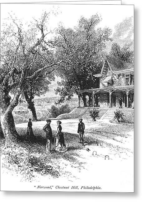 1876 Greeting Cards - Philadelphia: Norwood Greeting Card by Granger