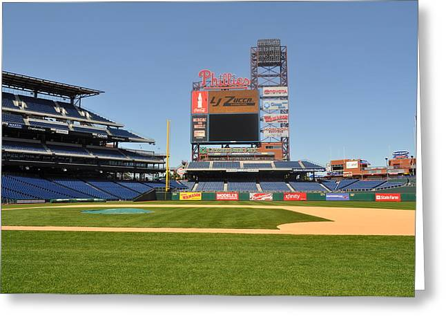 Citizens Bank Park Photographs Greeting Cards - Philadelphia Phillies Stadium  Greeting Card by Brynn Ditsche