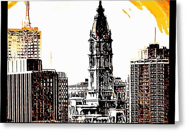 Phillies Posters Greeting Cards - Philadelphia Poster Greeting Card by Bill Cannon