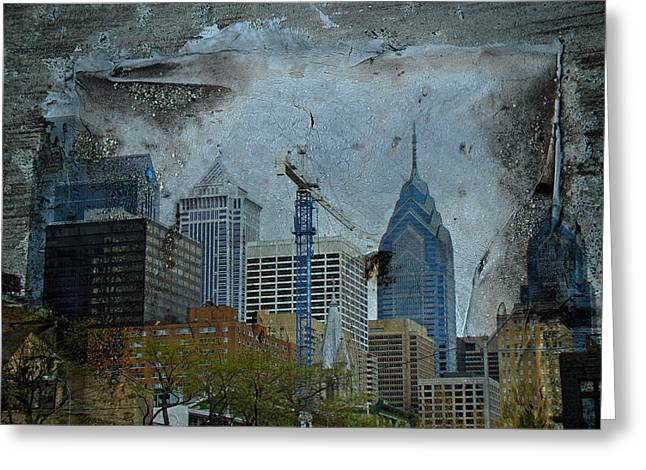 Phillie Photographs Greeting Cards - Philadelphia Skyline Greeting Card by Mother Nature
