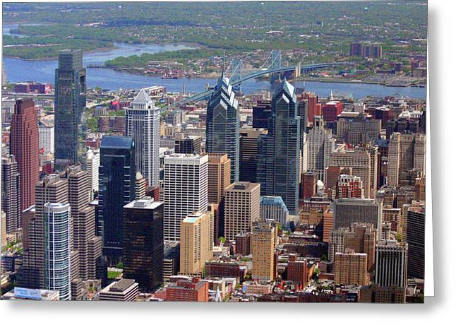 Recently Sold -  - Downtown Franklin Greeting Cards - Philadelphia Skyscrapers Greeting Card by Duncan Pearson