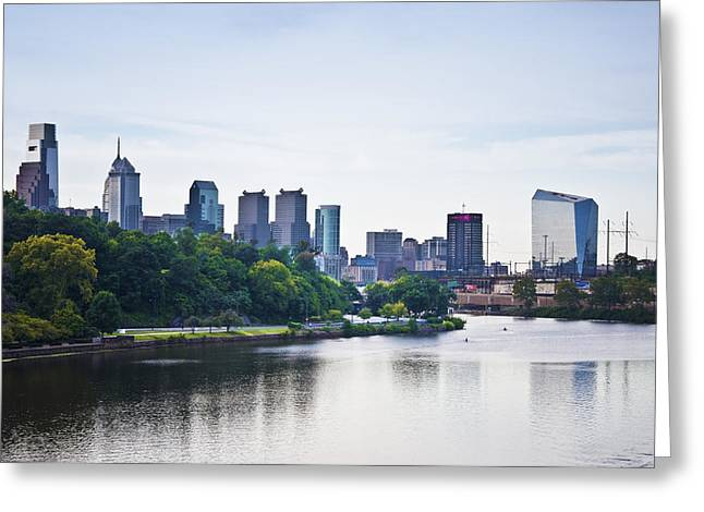 Kelly Drive Digital Greeting Cards - Philadelphia View from the Girard Avenue Bridge Greeting Card by Bill Cannon