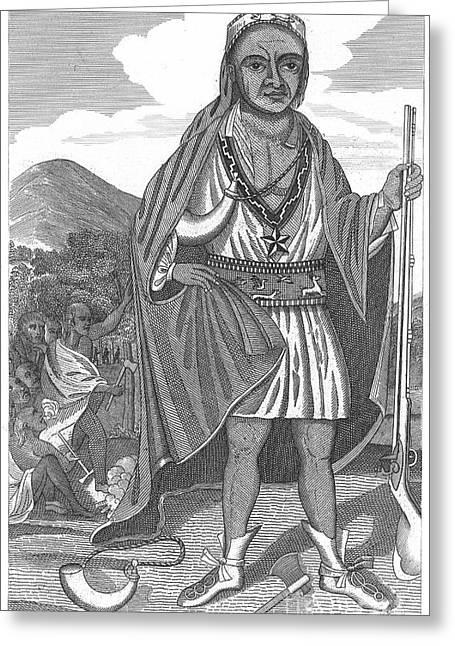 Wampanoag Greeting Cards - PHILIP (METACOMET) (d.1676) Greeting Card by Granger