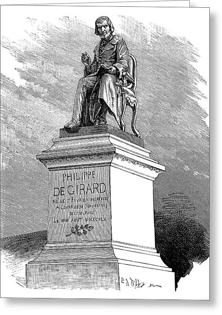 Surname G Greeting Cards - Philippe De Girard, French Inventor Greeting Card by