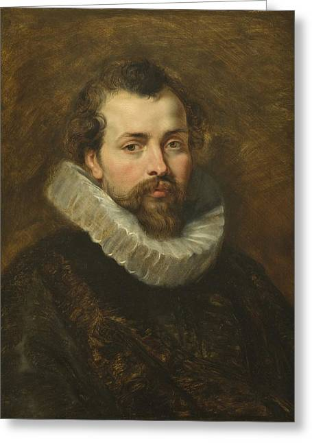 1640 Greeting Cards - Philippe Rubens - the artists brother Greeting Card by Peter Paul Rubens