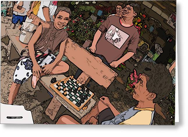 Philippines 4293 Checkers Greeting Card by Rolf Bertram