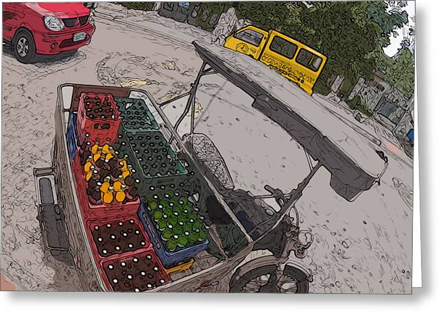 Philippines 5397 Soft Drinks And Beer Delivery Greeting Card by Rolf Bertram
