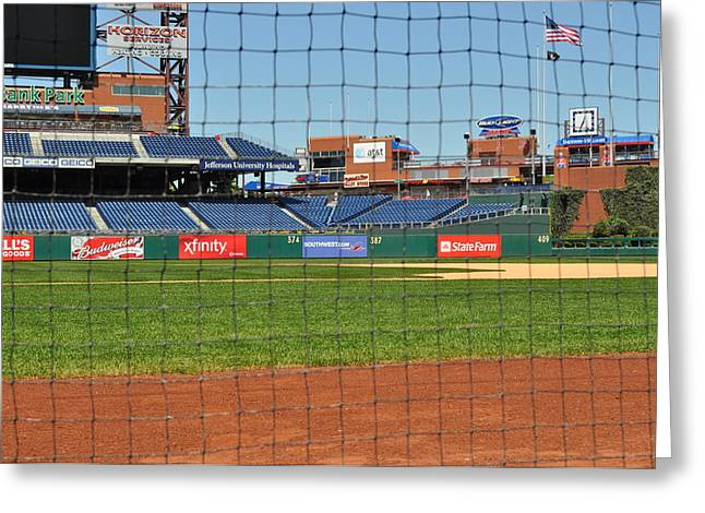 Citizens Bank Park Photographs Greeting Cards - Phillies Greeting Card by Brynn Ditsche