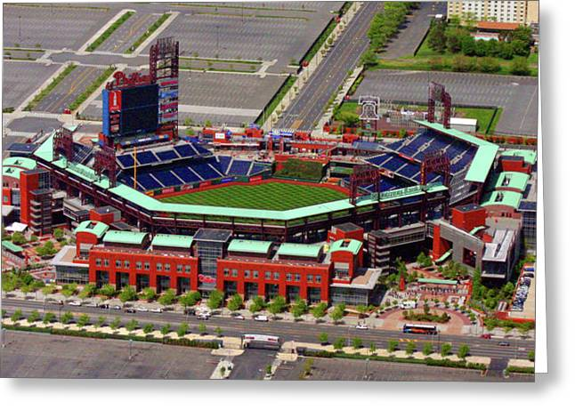 Phillies Tickets Greeting Cards - Phillies Citizens Bank Park Greeting Card by Duncan Pearson