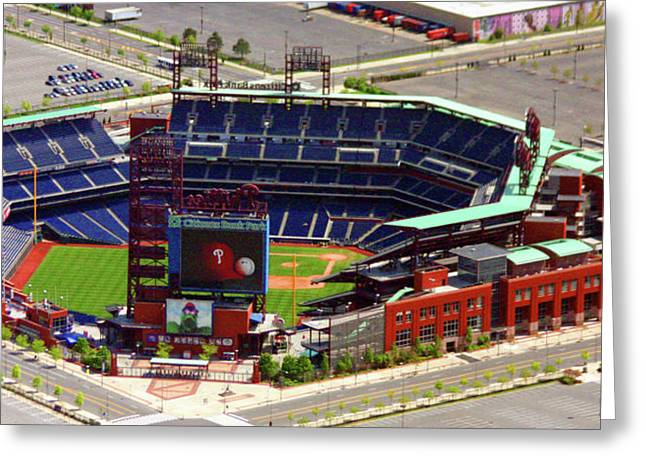 Veterans Stadium Greeting Cards - Phillies Citizens Bank Park Philadelphia Greeting Card by Duncan Pearson