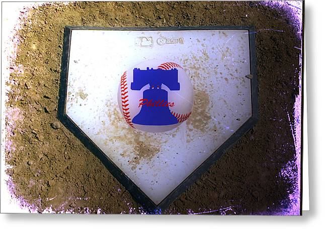 Phillies Digital Greeting Cards - Phillies Home Plate Greeting Card by Bill Cannon