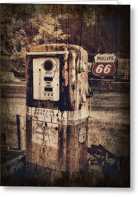 Phillips 66 Greeting Card by Kathy Jennings