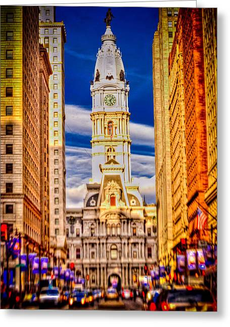 Penna Greeting Cards - Philly Greeting Card by David Hahn
