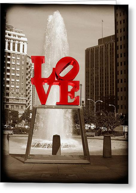 Byway Greeting Cards - Philly Love Greeting Card by Skip Willits