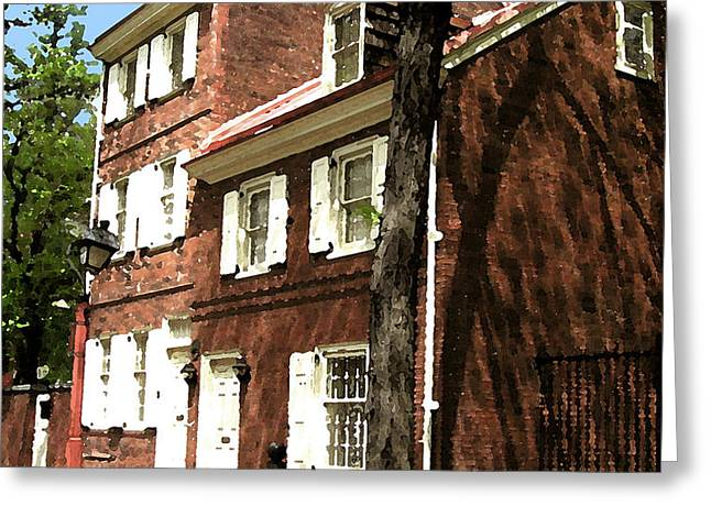 Philly Row House 2 Greeting Card by Paul Barlo