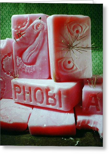 Metal Art Greeting Cards - Phobia Greeting Card by Gabe Arroyo