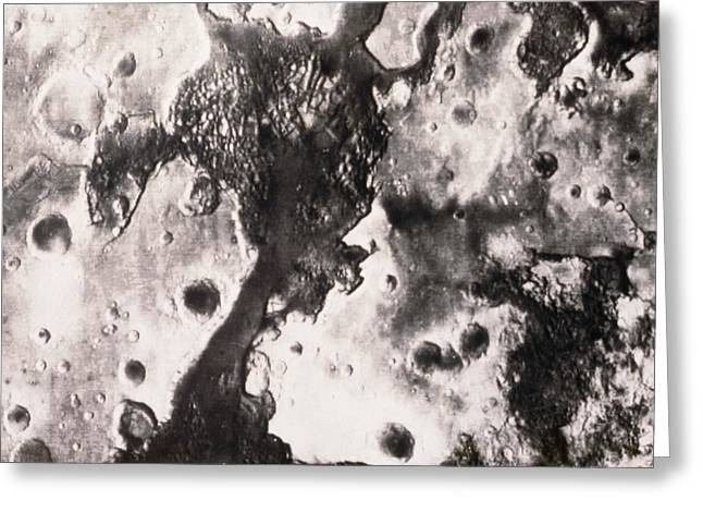 Phobos Greeting Cards - Phobos 2 Spacecraft Photo Of The Surface Of Mars Greeting Card by Ria Novosti