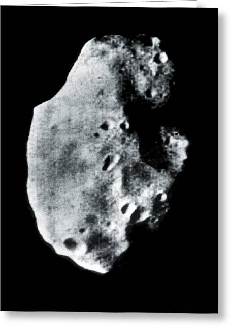 Phobos Greeting Cards - Phobos, Martian Moon, Satellite Image Greeting Card by Nasavrs