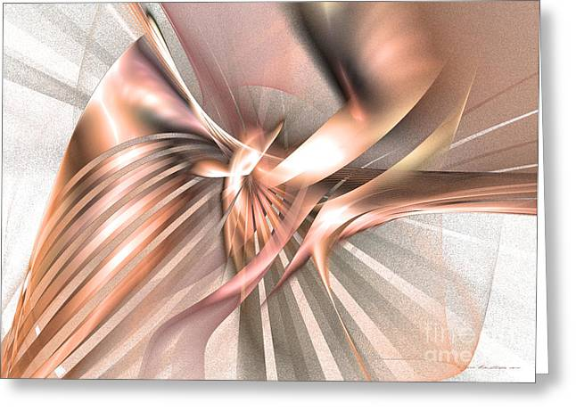 Phoenix Of The Future Greeting Card by Abstract art prints by Sipo