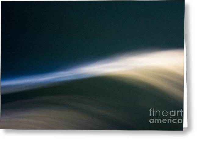 Bambers Greeting Cards - Phosphorescence Wave Greeting Card by Clare Bambers