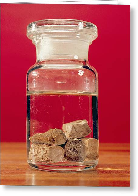 Water Jars Greeting Cards - Phosphorus In A Jar Greeting Card by Andrew Lambert Photography
