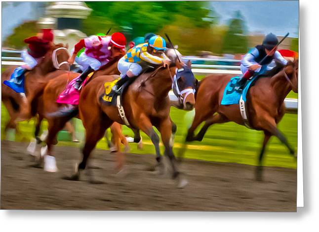 Photo Finish Greeting Card by Richard Marquardt