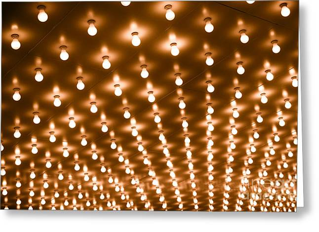 Photo of Theater Marquee Lights Greeting Card by Paul Velgos
