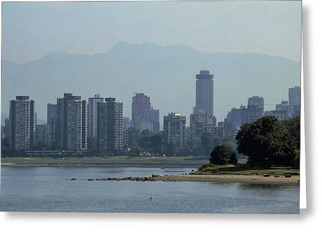 Inversion Greeting Cards - Photochemical Air Pollution Over Vancouver, Canada Greeting Card by Kaj R. Svensson