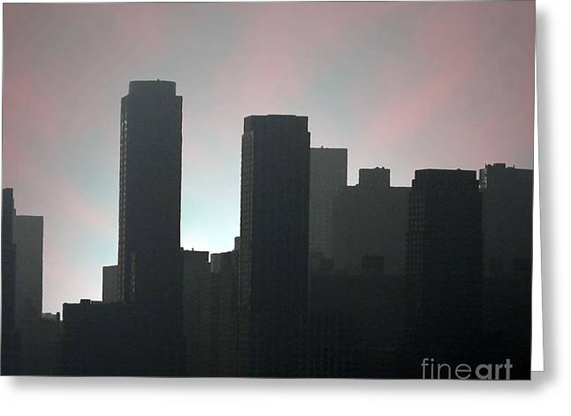 Photograph Of Manhattan In The Morning  Greeting Card by Mario Perez